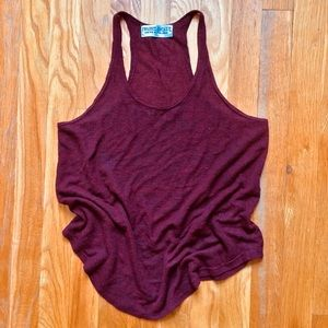 Urban Outfitters Textured Racerback Red Tank Top